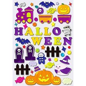 メール便可 ジェルギャラリー ハロウィントレイン(A4)ハロウィン ウィンドウデコレーション halloween|sanyodo-shop