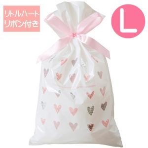 リトルハートリボン付ギフトバッグL(ラッピング袋)|sanyodo-shop