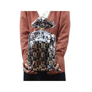 ミッキーラッピング袋シルバー(約 縦45×横30cm)|sanyodo-shop