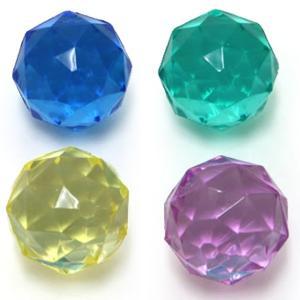 お祭りの季節に大活躍!カラフルなダイヤモンドカットのスーパーボールです☆キラキラでお祭りや縁日、イベ...
