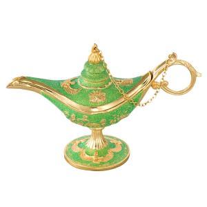 [5000円以上で送料無料] エジプトお土産   魔法のランプ ゴールド×グリーン【171310】 sanyodo