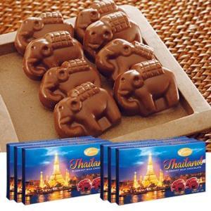 [送料無料] タイお土産 | エレファントチョコレート 6箱【176003】|sanyodo