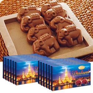 [送料無料] タイお土産 | エレファントチョコレート 12箱【176004】|sanyodo