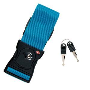 旅行用品|パレットTSAワンタッチスーツケースベルト ターコイズ【T44013】|sanyodo