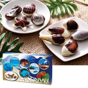 [5000円以上で送料無料] モルディブお土産 | モルディブ シーシェルチョコレート ドルフィン紙袋付き 1箱【174039】|sanyodo