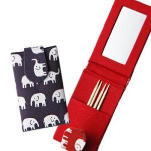 [5000円以上で送料無料] タイお土産 | 象さん 鏡付きつまようじ入れ 2個セット【176021】|sanyodo