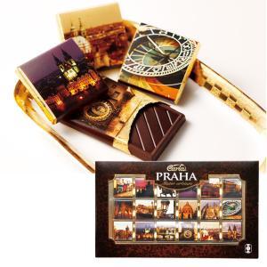 チェコお土産   プラハチョコレート カカオ70%ダークチョコ 1箱 【105403】 sanyodo