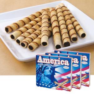 [5000円以上で送料無料] アメリカお土産 | アメリカ チョコロールウエハース 3箱セット【172014】|sanyodo