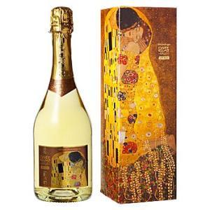 [送料無料] オーストリアお土産 | キューベ・クリムト スパークリングワイン【R71077】|sanyodo