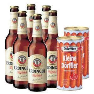 【セットでお得】ドイツ お土産 ドイツエルディンガービール&ソーセージセット 【R01407】 sanyodo