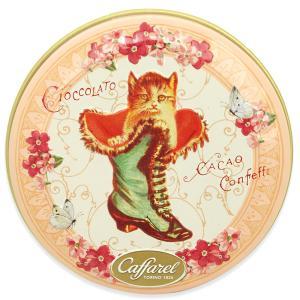 [5000円以上で送料無料] カファレル Caffarel | チョコラティーノ缶(ピンク) ネコ チョコレート 袋付き【105474】|sanyodo