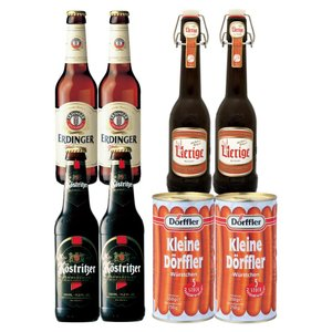 [送料無料] ドイツお土産   ドイツビール3種&ドフラーソーセージ2缶セット【R06096】 sanyodo