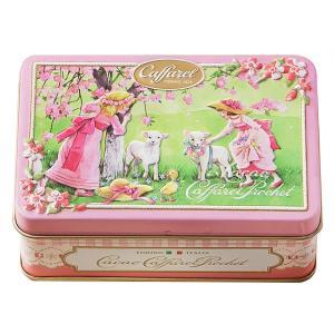 [5000円以上で送料無料][ホワイトデー] カファレル Caffarel | リバイバル小缶 ピンク チョコレート 袋付き 【105786】|sanyodo