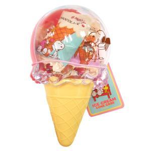 [5000円以上で送料無料][バレンタイン] スヌーピー アイスクリームコーンケース入りチョコレート ピンク【105870】|sanyodo