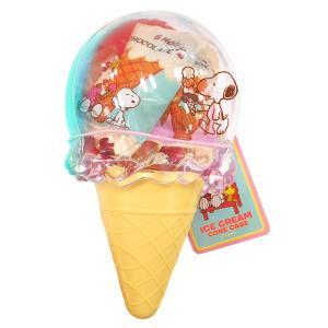 [5000円以上で送料無料][バレンタイン] スヌーピー アイスクリームコーンケース入り チョコレート ブルー【105871】|sanyodo