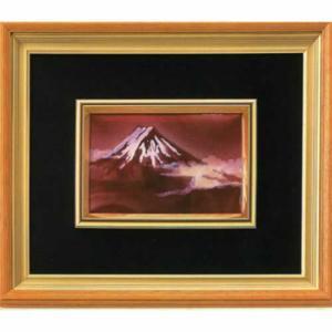 日本からの土産 七宝額「赤富士」|sanyodo