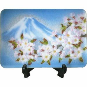 日本からの土産 七宝飾り皿「富士桜」|sanyodo