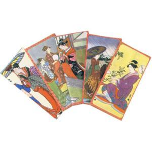 日本からの土産 浮世絵札入れ5個セット|sanyodo