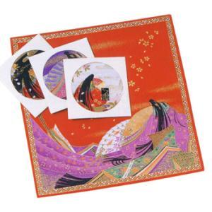 日本からの土産 十二単ハンカチ1枚|sanyodo