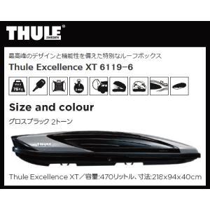 【個人様宅配送不可】THULE(スーリー)ルーフボックス Thule Excellence XT TH6119-6 エクセレンス(注:本州・九州・四国地方発送のみ) sanyodream