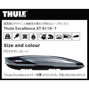 【個人様宅配送不可】THULE(スーリー)ルーフボックス Thule Excellence XT TH6119-7 エクセレンス(注:本州・九州・四国地方発送のみ) sanyodream