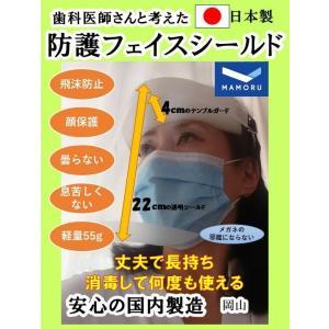 【即出荷可】フェイスシールド  日本製  国内発送  1個  フェイスガード  ノーマル 透明シールド  飛沫  ウィルス 防護 医療 フェースシールド 国産|sanyosyoji
