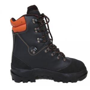 チェーンソー防護ブーツ チェーンソープロテクションブーツ 黒 ブラック ウッドマン2  イタリア ロングストン社製 クラス2 ビブラムソール 安全靴|sanyosyoji