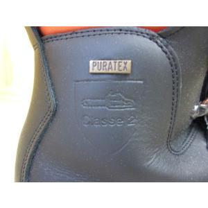 チェーンソー防護ブーツ チェーンソープロテクションブーツ 黒 ブラック ウッドマン2  イタリア ロングストン社製 クラス2 ビブラムソール 安全靴|sanyosyoji|05