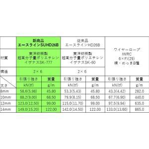 林業集材用繊維ロープ 東京製綱繊維ロープ エースライン 12mm 70m |sanyosyoji|06