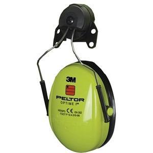 イヤーマフH510P3Eヘルメット取付タイプ 遮音値SNR=26dB 3Mペルラー イエロー|sanyosyoji