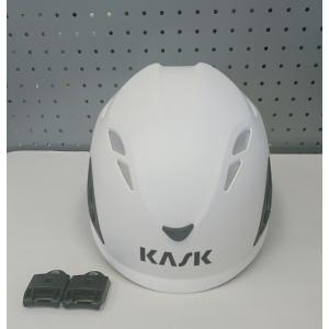 ヘルメット カスク Kask PlasmaAQ  白 あご紐付  イヤマフ取付アダプタ付き|sanyosyoji
