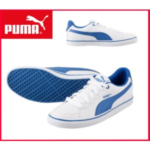 プーマ PUMA スニーカー コートポイント クラシック 357592 03<メンズ シューズ 靴>ホワイト/ブルー|sanyuukutu