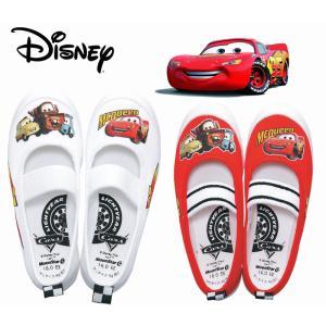 カーズ バレーシューズ 05 キッズ スニーカー ディズニー 男の子 子供靴 内履き 上履き スクール 白 白靴 ホワイト レッド|sanyuukutu