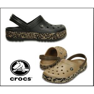 クロックス crocband leopard clog 203171 クロックバンド レオパード メンズ レディース サンダル ヒョウ柄 ゼブラ アニマル 正規品|sanyuukutu