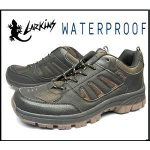 LARKINS ラーキンス メンズ 防水ブーツ トレッキング アウトドア<カジュアルシューズ>6347紳士靴 ブラック【25〜27cm】|sanyuukutu