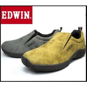 エドウィン EDWIN 7030 メンズスニーカー カジュアル スリッポン ジャングルモック タイプ 靴 グレー ベージュ|sanyuukutu