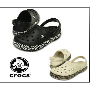 【正規品】クロックス.crocs クロックバンド アニマルプリント クロッグ メンズ レディース サンダル 200721-18m 066|sanyuukutu