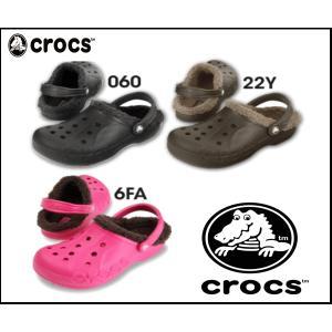 【正規品】クロックス.crocs クバヤ ラインド サンダル ボア メンズ レディース 11692 ブラック エスプレッソ ピンク 060 22Y 6FA|sanyuukutu