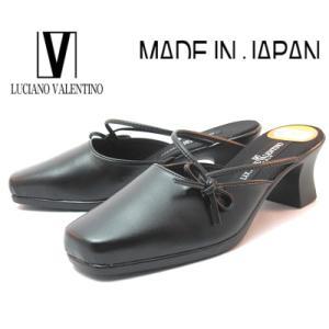 【セール】 ルチアノバレンチノ 3100 ブラック スクエアヒール レディースサンダル ミュール【S〜LL】|sanyuukutu