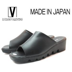 【セール】 ルチアノバレンチノ 6451 ブラック 厚底ミュール レディースサンダル 【S〜LL】日本製|sanyuukutu