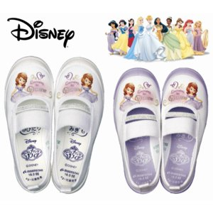 ちいさなプリンセスソフィア バレーシューズ 01 キッズ スニーカー ディズニー 女の子 子供靴 内履き 上履き スクール 白 白靴 ホワイト パープル|sanyuukutu