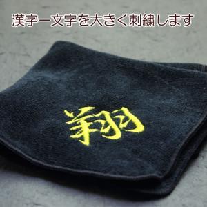 送料無料 メール便 漢字一文字 刺繍 タオルハンカチ (今治タオル)|sap