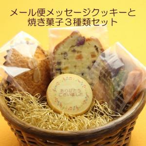 【メール便】送料無料メッセージクッキー&焼き菓子3種類セット|sap