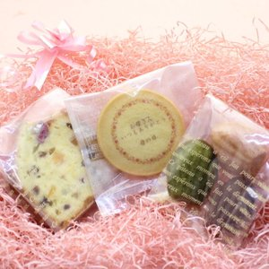 母の日メッセージ入りクッキーとフルーツケーキ、プチ焼き菓子セット sap
