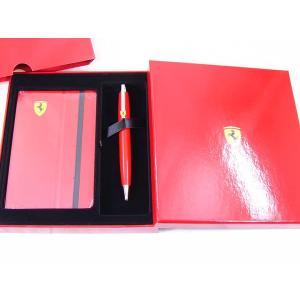 kフェラーリ&シェーファー ロッソコルサ ボールペン&メモ手帳のギフトセット 9504-2 saponintaiga