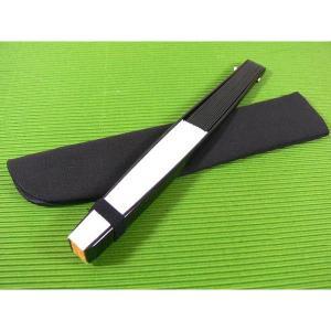 伝統製法 日本製 鍛造 6.5寸 黒鉄扇 白|saponintaiga