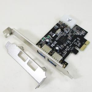 変換名人 TFTEC JAPAN 2ポート増設カード USB3.0 PCI-E CARD/7551|saponintaiga