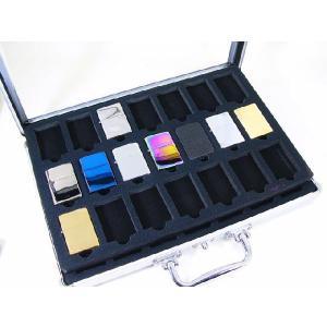 アルミアタッシュ型ライター収納ケース ディスプレイ zippo42個収納ライターケースx6個セット /卸/|saponintaiga