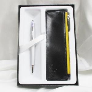 クロス ボールペン カレイ AT0112-16/Z1 オールオーバーサテンクローム+ペンケースギフト saponintaiga