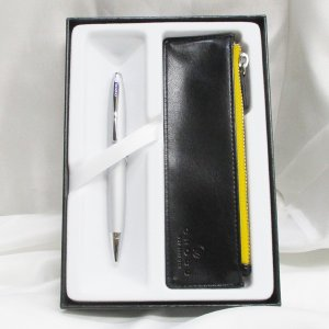 クロス ボールペン カレイ AT0112-16/Z1 オールオーバーサテンクローム+ペンケースギフト/送料無料 saponintaiga